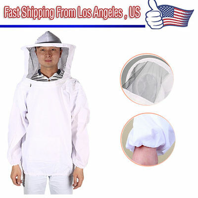 New Large Beekeeping Bee Keeping Suit Jacket Pull Over Smock With Veil Ml Oy