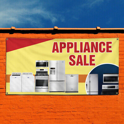 Vinyl Banner Sign Appliance Sale 1 Style A Business Marketing Advertising Red
