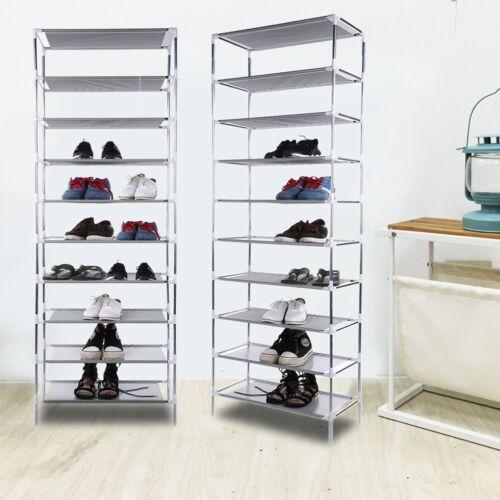 yks xxl 10 schicht schuhregal f r 50 paar schuhe schuhschrank faltschrank bl ebay. Black Bedroom Furniture Sets. Home Design Ideas