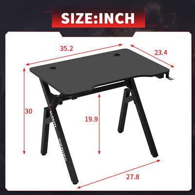 Computer Desk Gaming Desk 35.2″/45.2″/47.2″ Student PC Desk Writing Desk Furniture