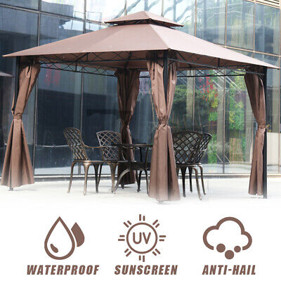 Gazebo Canopy  tent 10′ X 10′ bbq Outdoor patio grill gazebo for Patios Large Awnings & Canopies