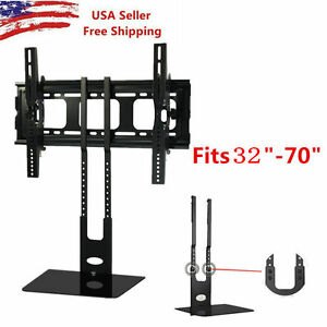 32''-70'' Shelf Wall Mount Bracket Under TV Component Cable Box DVD Floor Stand