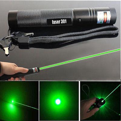 Military Powerful 5mW 532nm Green Laser Pointer Pen Beam Light Burning Lazer