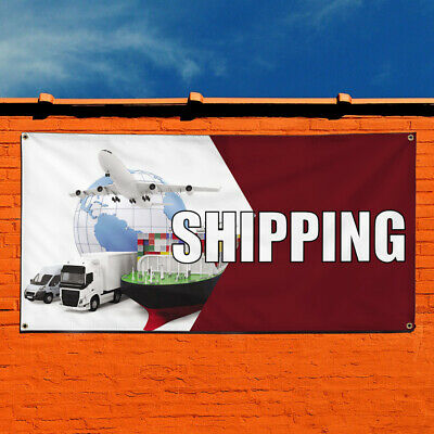 Vinyl Banner Sign Shipping Business Shipping Marketing Advertising White