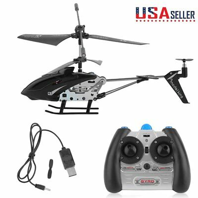S107G MK-08K 3.5 CH Mini Remote Control RC Helicopter Gyro Genuine LED Black MAX for sale  Chino