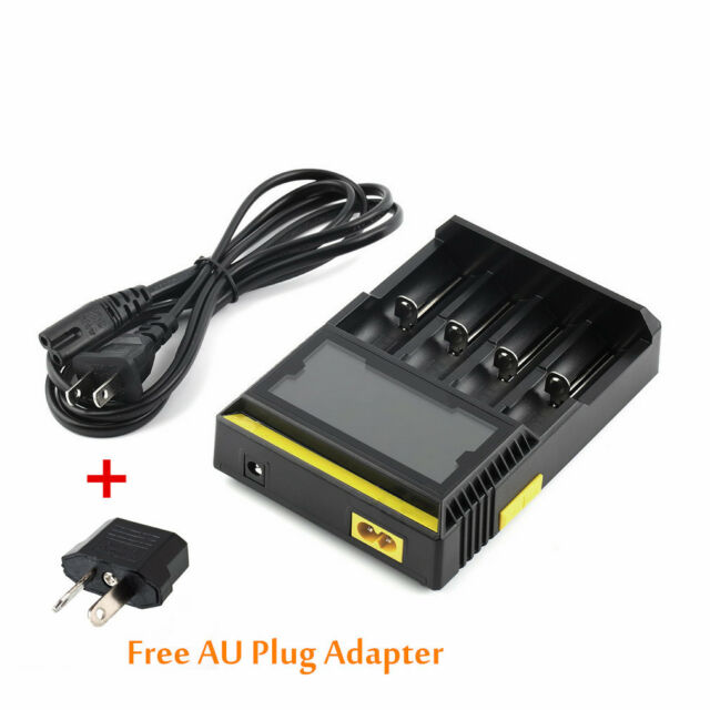 EU Plug Charger For AA/AAA/9V/Ni-MH/Ni-Cd Rechargeable Battery + AU Converter YD