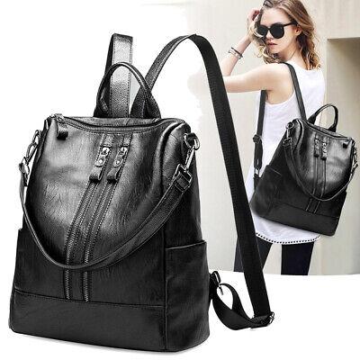 Women Leather Backpack Shoulder Bag Daypack Ladies Girl Purse Satchel Rucksack