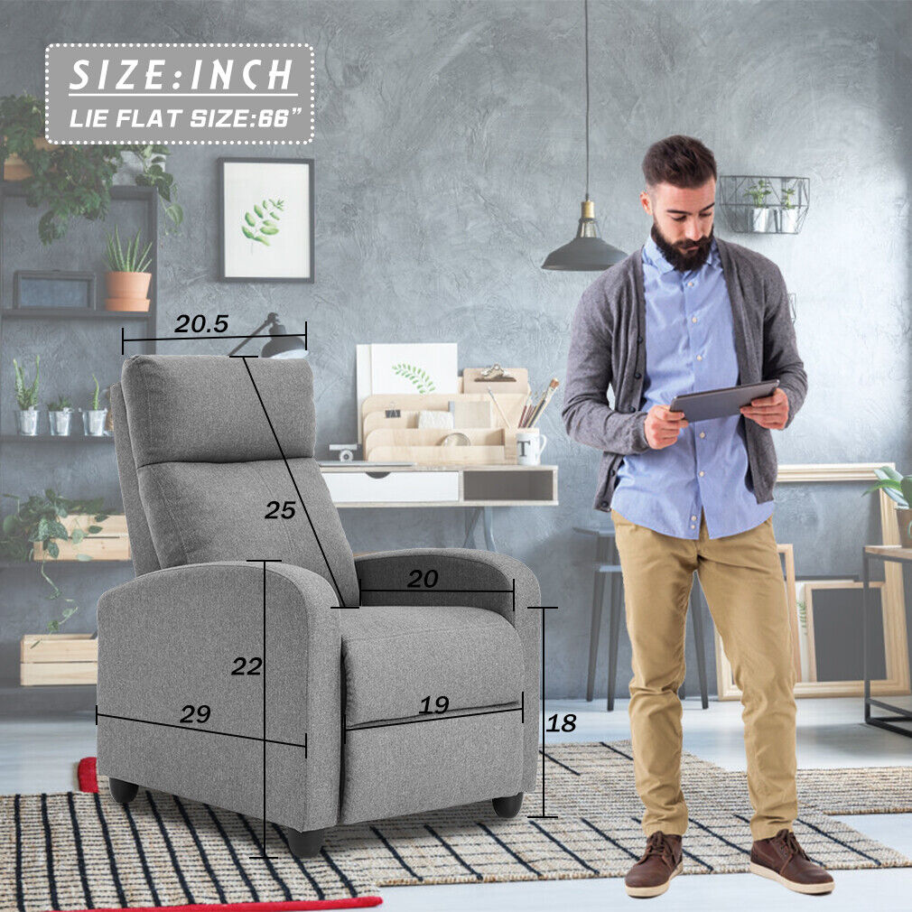 Recliner Chair for Living Room Home Theater Seating Winback Single Sofa Electric Massage Chairs