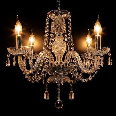 Crystal Chandelier Modern Ceiling Light E12 4 Lighting Fixture Lamp Pendant New