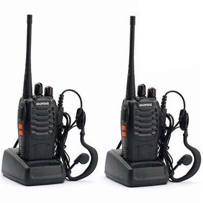 2 x Baofeng BF-888s 400-470 MHz UHF Amateurfunk Handfunkgerät Walkie-Talkie NEU