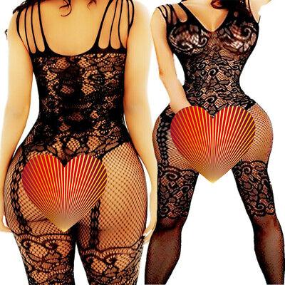 Adult Fishnet Body Stockings Babydoll Sleepwear New Bodysuit Lingerie Women's
