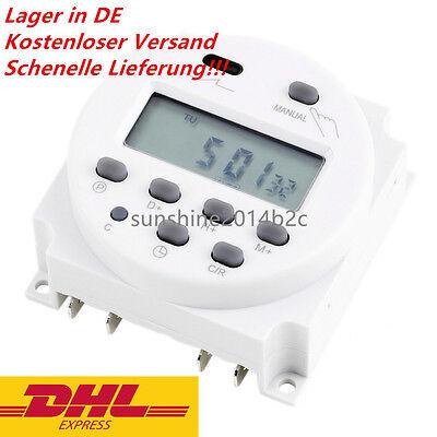 Digitale Programmierbare Zeitschaltuhr Schaltuhr 12V 24V 16A 17 Programme MPAW