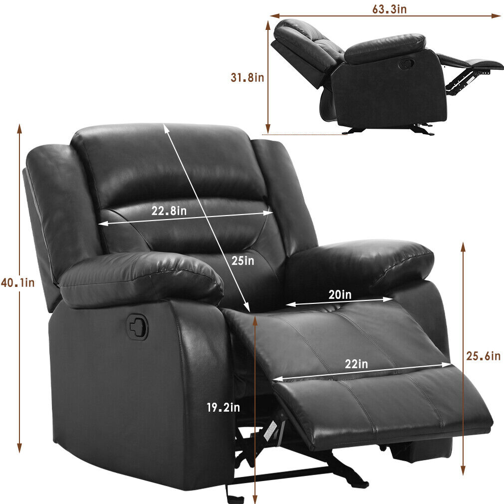 Recliner Chair Reclining  Sofa for Living Room Recliner Sofa Couch Sofa PU Furniture