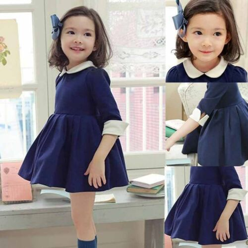392af210d Details about Pageant Kids Baby Girls Doll collar Party Dress Skirts Gown  Formal Dresses 2-9Y