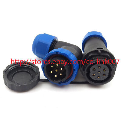 Sd20 7pin Waterproof Connector High Voltage Power Bulkhead Connector Led Plug