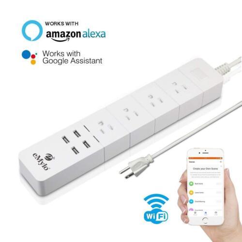WiFi Smart Outlet Power Strip Plug Works with Alexa Google Home US AC100-240V