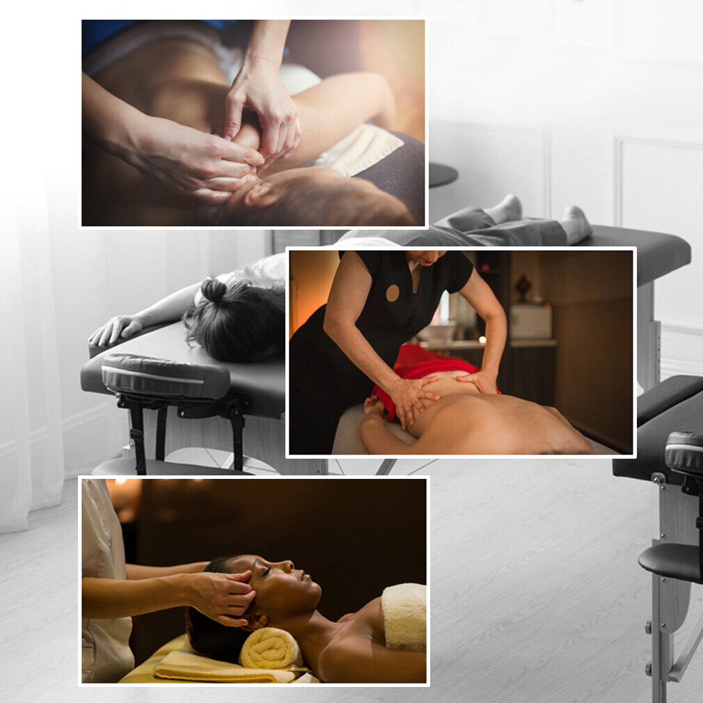 BestMassage Black PU Portable Massage Table w/Free Carry Case U1 Bed Spa Facial Health & Beauty