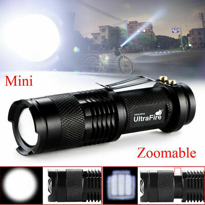 5000lm CREE Q5 LED Flashlight Aluminium Mini Zoomable Torch Shadowhawk X800 New