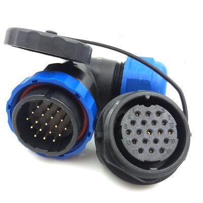 Sd28 19pin Waterproof Connector5a 250v Bulkhead Auto Connector Air Plug Socket