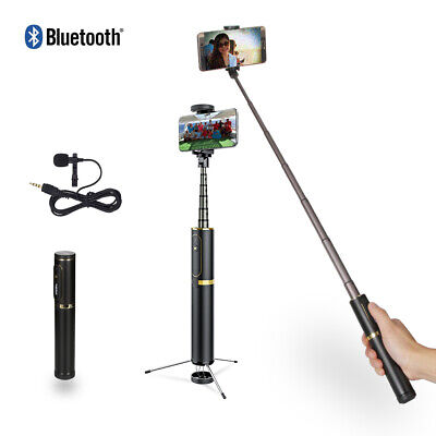 Selfie Stick Tripod Extendable Selfie Stick with Bluetooth Remote for iPhone 11