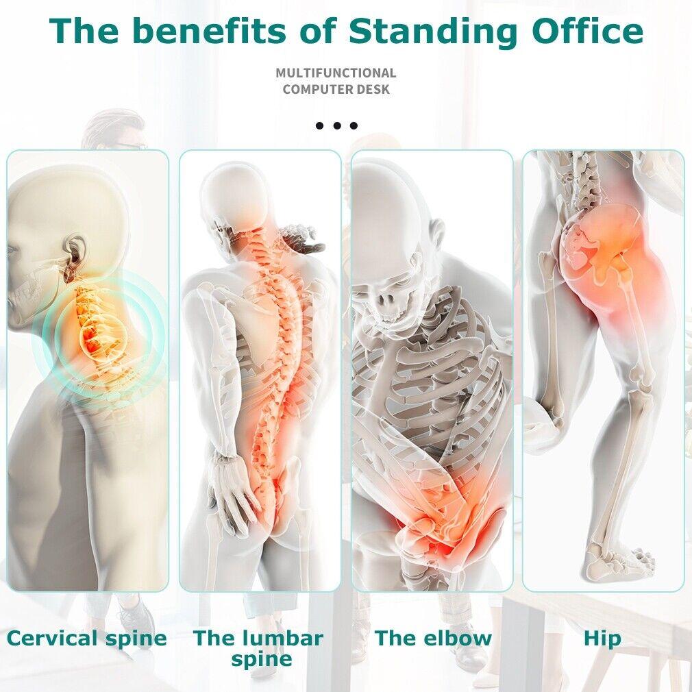 Standing Desk Converter Height Adjustable Desk Computer Workstation  Desk  Black Business & Industrial