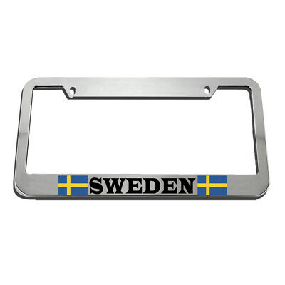 Sweden Flag Swedish Country License Plate Frame Tag - Swedish Flag Framed