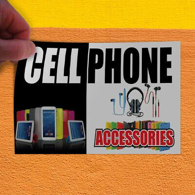 Decal Sticker Cell Phone Accessories Business Retail Outdoor Store Sign White
