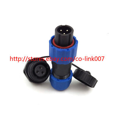 Sd13 3pin Waterproof Connector Ip68 High-voltage Current Connector Power Plug