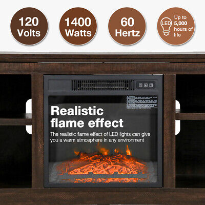 Electric Fireplace TV Stand Wood Mantel for TV Up to 50″Fireplace Television Fireplaces