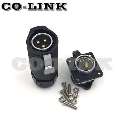 Ip67 3 Pins Industrial Connector Outdoor Waterproof Adapter Lp-20-c03