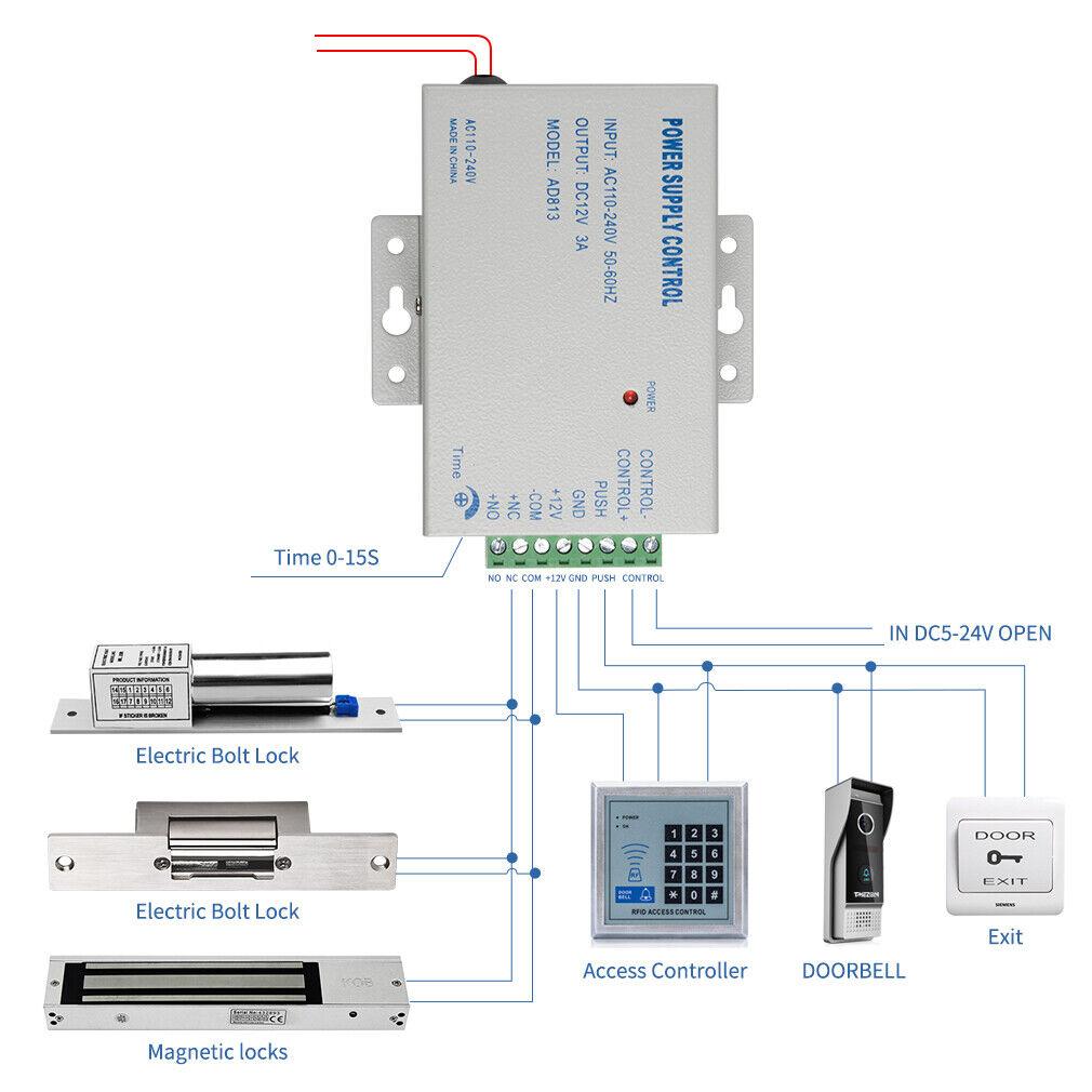 TMEZON Elektroschloss Türöffner Schmaler Typ NC Modus mit 12V3A Zutrittskontroll