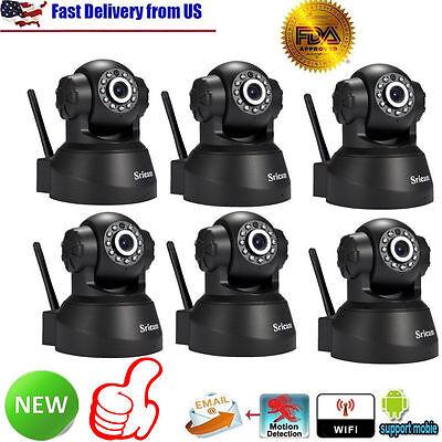 6Assembly Sricam 3MP 720P Wireless IP Camera WiFi Security IR Night Vision Cam USABP