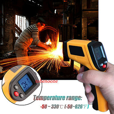 Temperature Temp Meter Gun Non-contact Digital Laser Infrared Ir Thermometer Ku