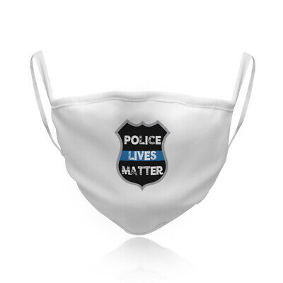 Cotton Washable Reusable Face Mask Police Live Matters Fashion Covering Shield