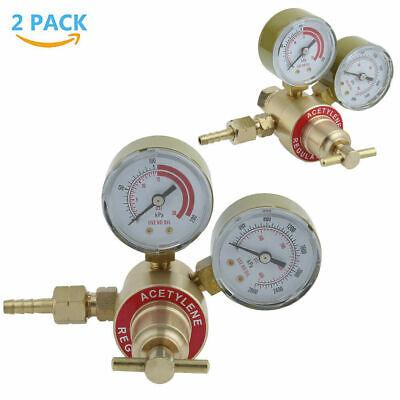 2X Solid Brass Acetylene Regulators Acetylene Pressure Regulator Valve Gauge WF