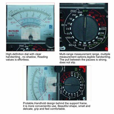 Yx-360trn Analog Multimeter Plastic Gauge Shell Electrical Pointer Multitester P
