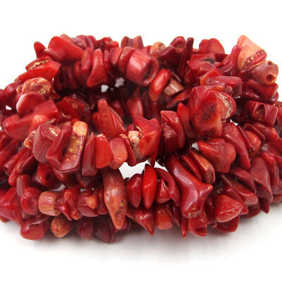 Red Coral Beads Strand Beads Finding For Jewelry Making for sale  Shipping to India