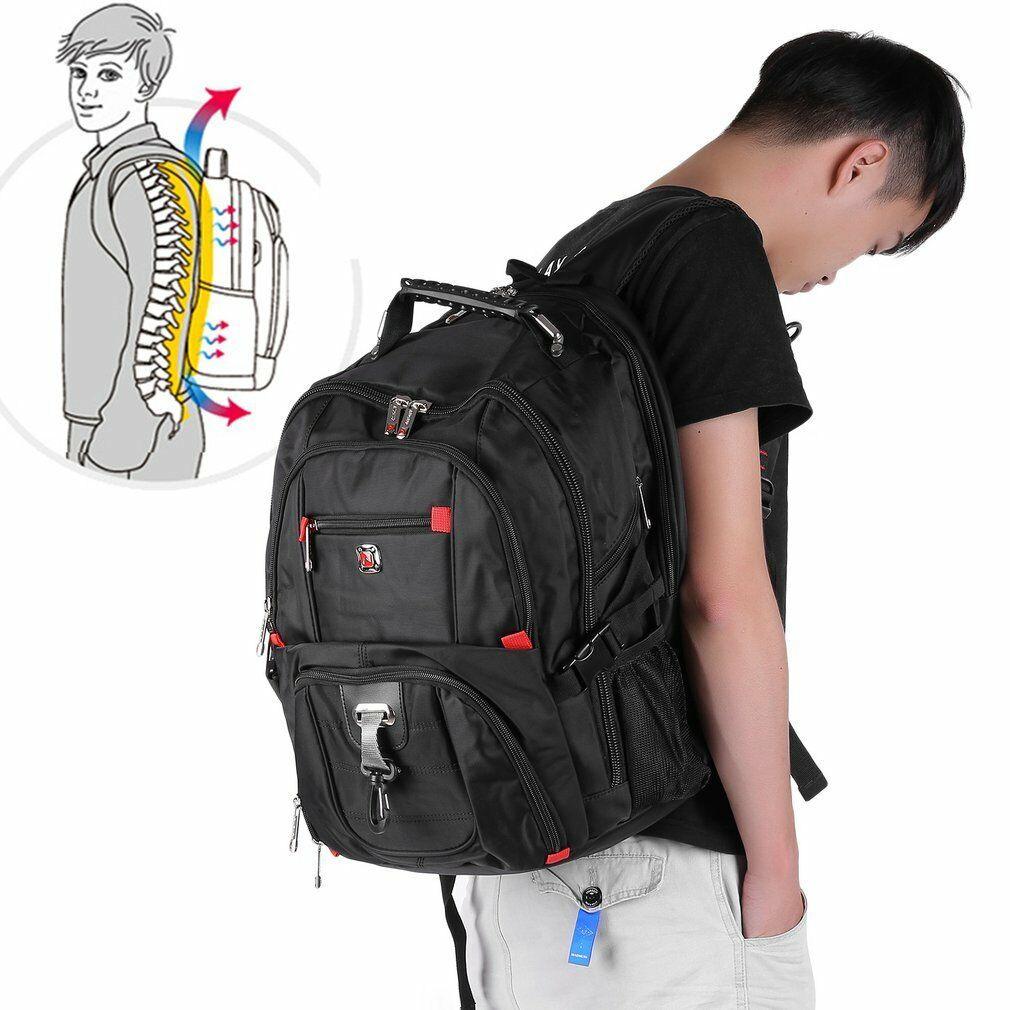 """Men's Rucksack Notebook 15.6"""" Laptop Backpack Shoulder Hiking Travel School Bag@"""