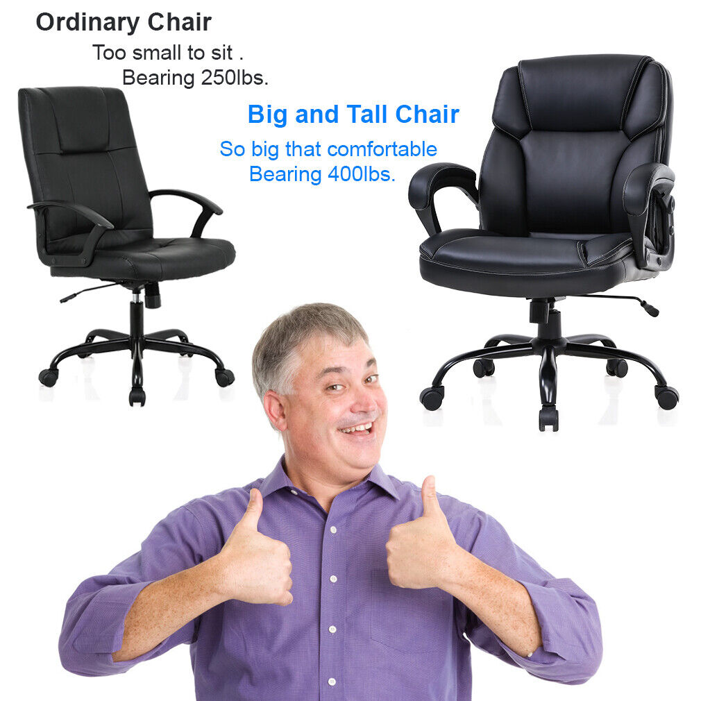 Big and Tall Office Chair 400lbs Wide Seat Ergonomic Desk Chair Chairs