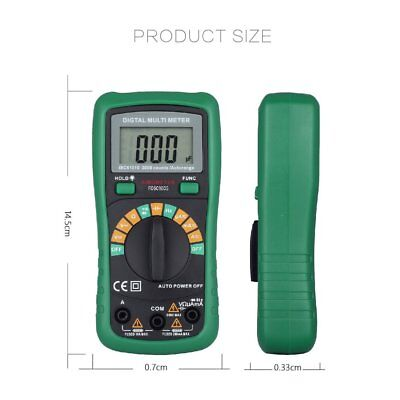 Lcd Digital Multimeter 1999 Electrical Voltmeter Acdc Ohm Volt Diode Tester Bt