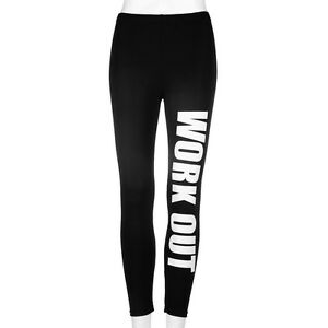 Ladies Work Out Leggings Womens Gym Excercise Bottoms Active Sports Wear Running