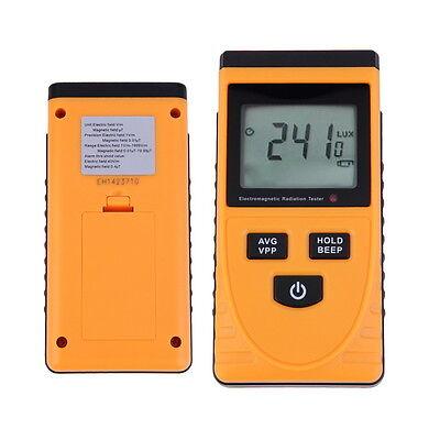 Digital Lcd Electromagnetic Radiation Detector Meter Dosimeter Tester Counter Sm