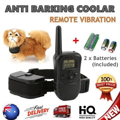 Anti Bark Dog Training Collar Sound Vibration Stop Barking Automatic Pet Remote#