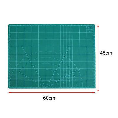 "18"" x 24"" GREEN/BLACK Self Healing 5-Ply Double Sided Durable PVC Cutting Mat HL"