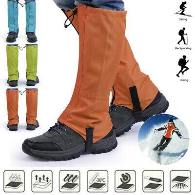 "Snowproof Waterproof Leg Gaiters Nylon Shoe Boot Cover Hiking Legging 16"" GD"