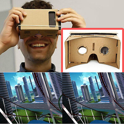 ULTRA CLEAR Google Cardboard Valencia Quality 3D VR Virtual Reality Glasses 7@