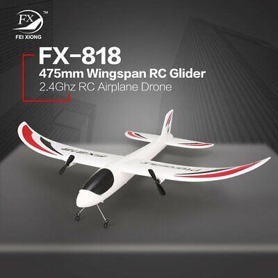 FX-818 2,4G 2CH Fernbedienung Segelflugzeug 475mm Spannweite RC Flugzeug DroneIT Flugzeuge Fernbedienung