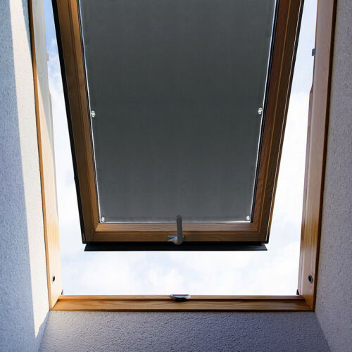 Fensterrollo Verdunkelungsrollo Sonnenschutz Dachfenster Rollo Saugnäpfe Grau
