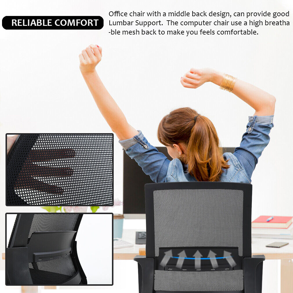 Office Chair Desk Chair Computer Chair Swivel Executive Lumbar Support 2 Pack Chairs