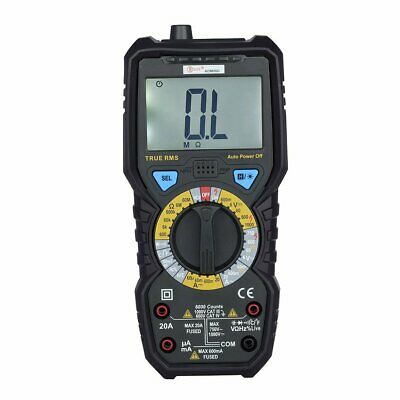 Bside Digital Lcd Multimeter Rms Temperature Tester Ac Dc Voltage Meter Bt